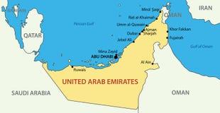 United Arab Emirates - map Stock Image