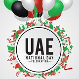 United Arab Emirates national day background vector illustration