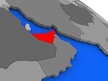 United Arab Emirates in red Stock Image