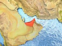 United Arab Emirates in red Stock Photos