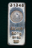 United Arab Emirates Silver Bullion Bar Stock Photo