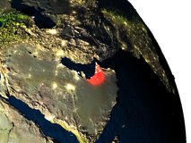 United Arab Emirates from space Stock Photography