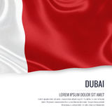 The United Arab Emirates state Dubai flag. Royalty Free Stock Photo