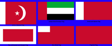 United Arab Emirates Sub-national flags Stock Photography