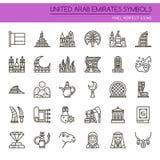 United Arab Emirates Symbols Stock Photo