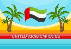 United Arab Emirates Travelling Banner. Welcome Royalty Free Stock Photography