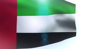 United Arab Emirates UAE flag wind wave waving. Video stock video footage