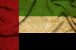 United Arab Emirates waving flag stock photography