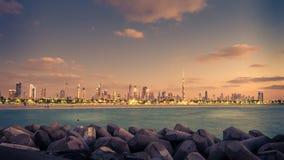 United Arab Emyrates: beautiful skyline of Dubai Royalty Free Stock Photo