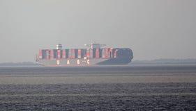 United arab shipping company freight Stock Image