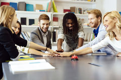 United as one to achieve comapny goals Stock Image