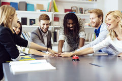 United as one to achieve comapny goals Stock Photo