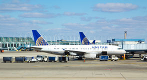 United Airlines Plane Chicago O'Hare Royalty Free Stock Photo