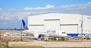 United Boeing 787 Dreamliner Stock Photography