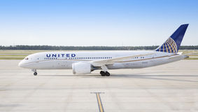 United Boeing 787 Dreamliner Stock Image