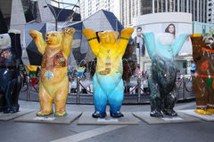 United Buddy Bears - first time in Southeast Asia. KUALA LUMPUR, MALAYSIA - DECEMBER 10 - United Buddy Bears, representing art ambassadors are exhibited in Kuala stock photography