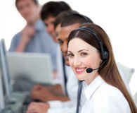 United business team working in a call center Royalty Free Stock Image