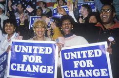 United For Change signs Stock Images