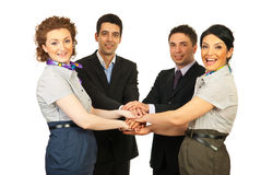 United cheerful business people team Royalty Free Stock Image