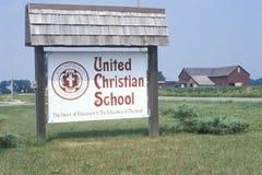 United Christian School Stock Photo