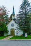 United Church of Canada in Sainte-Adele. Sainte-Adele, Canada - September 30, 2018: The United Church of Canada in Sainte-Adele, Laurentian Mountains, Quebec stock photos