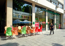 United Colors of Benetton bar and store. In the center of Sarajevo. Bosnia and Herzegovina Stock Images