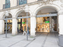 United Colors of Benetton munich. United Colors of Benetton store in munich with copy space to the left Royalty Free Stock Image
