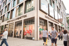 United colors of Benetton. People infront of a United colors of Benetton store Royalty Free Stock Photography