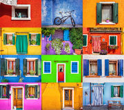 United colors of Burano Stock Image