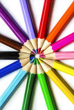 United Colors. United Colored Pencils Macro Still Life Stock Photography
