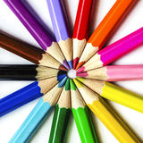 United Colors Square. United Color Pencils Square Macro Royalty Free Stock Photos