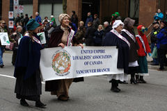United Empire Loyalists, St. Patrick's Day Parade Royalty Free Stock Photo