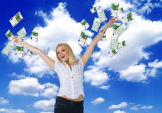 United europe money and happiness Royalty Free Stock Image
