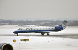 United Express in airport after snow Royalty Free Stock Image