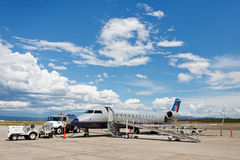 United Express Bombardier CRJ200 Aircraft Stock Photography