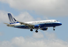 United Express passenger jet Royalty Free Stock Images