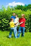 United family at the nature Royalty Free Stock Images