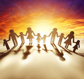 United family. Family united together holding hands Royalty Free Stock Image