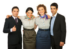 United group of cheerful people Royalty Free Stock Photos