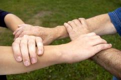 United hands. United Royalty Free Stock Image