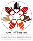 United hands and hearts design. Royalty Free Stock Photo