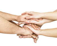 United hands Royalty Free Stock Photo