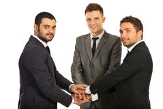 United happy team of business men Royalty Free Stock Images