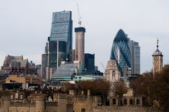 UNITED KIGDOM, LONDON, DECEMBER 07, 2016: View of London skyscrapers in London-City. View of London skyscrapers in London-City Stock Photo