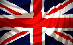 United Kingdom. Flag - Computer Generated Royalty Free Stock Photography