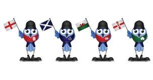 United Kingdom. Comical patriotic birds of the United Kingdom Stock Image
