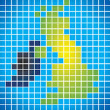 United Kingdom. Grid Matrix of the United Kingdom (NI, England, Wales, Scotland Stock Photos