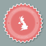United Kingdom badge flat design. Royalty Free Stock Photo
