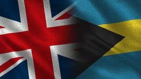 United Kingdom and Bahamas vector illustration