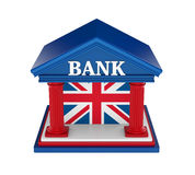 United Kingdom Bank Building Isolated. On white background. 3D render Royalty Free Stock Image